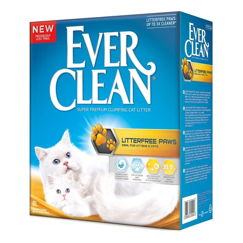 Ever Clean Litter Free Paws наполнитель комкующийся для для длинношерстных кошек и котят 6 л (10 л)