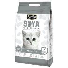 Kit Cat SoyaClump Soybean Litter Charcoal соевый биоразлагаемый комкующийся наполнитель с активированным углем - 7 л (14 л)