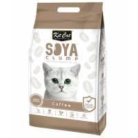 Kit Cat SoyaClump Soybean Litter Coffee соевый биоразлагаемый комкующийся наполнитель с ароматом кофе - 7 л (14 л)