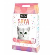 Kit Cat SoyaClump Soybean Litter Confetti соевый биоразлагаемый комкующийся наполнитель с разноцветными гранулами 7 л (14 л)