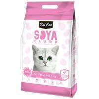 Kit Cat SoyaClump Soybean Litter Strawberry соевый биоразлагаемый комкующийся наполнитель с ароматом клубники - 7 л (14 л)
