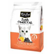 Kit Cat Zeolite Charcoal Citrus Blast цеолитовый комкующийся наполнитель с ароматом цитруса - 4 кг