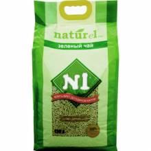 Наполнитель N1 Naturel Зеленый чай комкующийся для кошачьего туалета 17,5 л