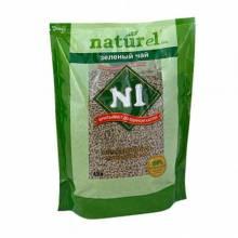 Наполнитель N1 Naturel Зеленый чай комкующийся для кошачьего туалета 4,5 л