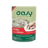 Oasy Wet cat Specialita Naturali Chicken Beef дополнительное питание для кошек с курицей и говядиной в паучах - 70 г (70 г х 24 шт)