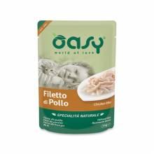 Oasy Wet cat Specialita Naturali Chicken дополнительное питание для кошек с курицей в паучах - 70 г (70 г х 24 шт)