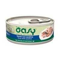 Oasy Wet cat Specialita Naturali Tuna Sardine дополнительное питание для кошек с тунцом и сардинами в консервах - 70 г (70 г х 24 шт)