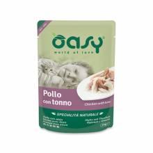 Oasy Wet cat Specialita Naturali Chicken Tuna дополнительное питание для кошек с курицей и тунцом в паучах - 70 г (70 г х 24 шт)
