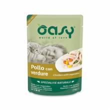 Oasy Wet cat Specialita Naturali Chicken Vegetables дополнительное питание для кошек с курицей и овощами в паучах - 70 г (70 г х 24 шт)