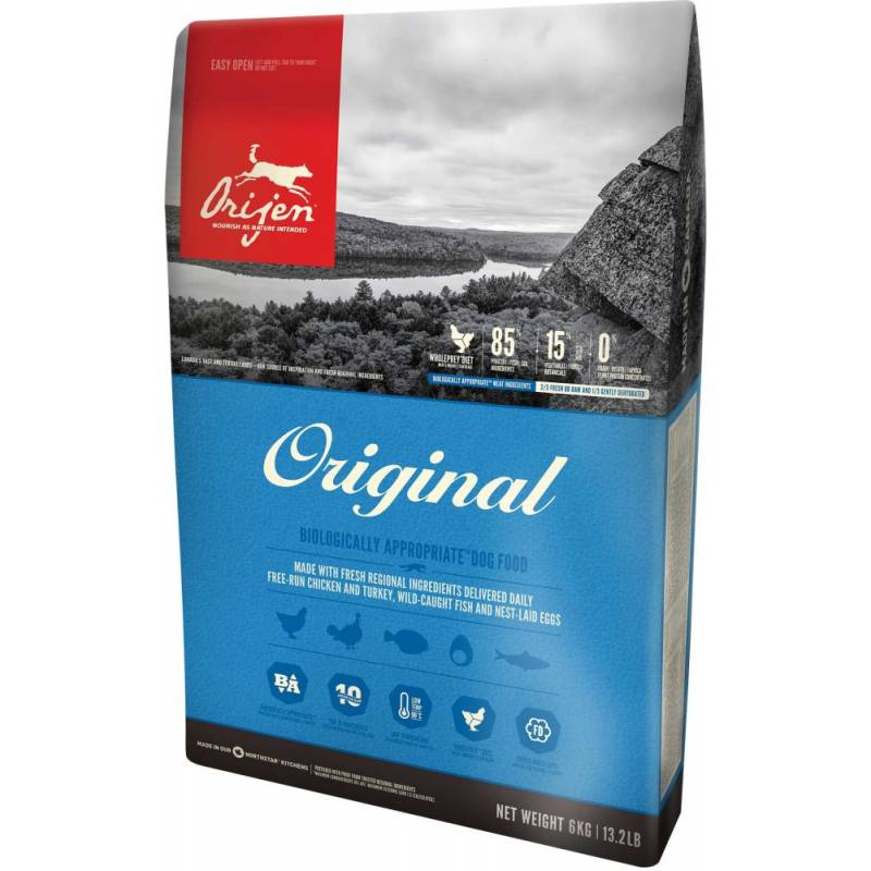 Orijen Original сухой корм для собак всех пород и возрастов с цыпленком, индейкой, рыбой и яйцом 2 кг (6 кг) (11,4 кг) (17 кг)