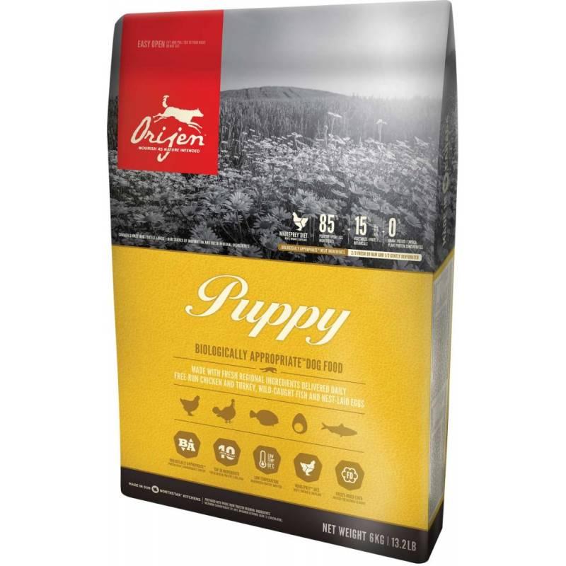 Orijen Puppy сухой корм для щенков всех пород с цыпленком, индейкой, рыбой и яйцом 2 кг (6 кг) (11,4 кг)