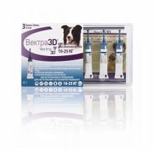 Vectra 3D капли инсектоакарицидные для собак 10-25 кг