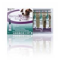 Vectra 3D капли инсектоакарицидные для собак 4-10 кг
