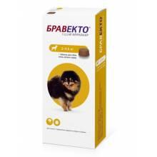 Жевательная таблетка Бравекто от блох и клещей весом от 2 до 4,5 кг - 112,5 мг
