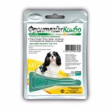 Капли Фронтлайн Combo S для собак весом 2-10 кг от блох, клещей и яиц - 1 пипетка