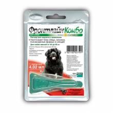 Капли Фронтлайн Комбо XL для собак весом от 40 до 60 кг против клещей, блох, вшей и власоедов (4,02 мл)