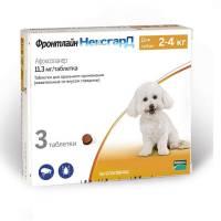 Фронтлайн Нексгард жевательные таблетки от блох и клещей 2 - 4 кг 3 таблетки