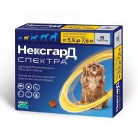 Фронтлайн НексгарД Спектра таблетки жевательные для собак весом от 3,5 до 7,5 кг