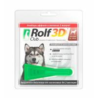 RolfClub 3D капли для собак 20-40 кг от клещей, блох, вшей, власоедов 2,5 мл