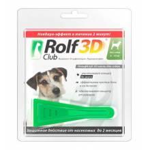 Rolf Club 3D капли для собак 4-10 кг от клещей, блох, вшей, власоедов 0,8 мл