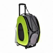 BIYAYA складная сумка-тележка 3 в 1 для кошек весом до 8 кг (сумка, рюкзак, тележка) - цвет лайм