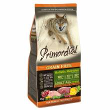 Сухой беззерновой корм Primordial для взрослых собак с олениной и индейкой 2 кг (12 кг)