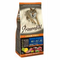Primordial сухой беззерновой корм для взрослых собак с тунцом и ягненком 2 кг (12 кг)