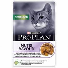Pro Plan Pro Plan Cat Adult NutriSavour Sterilised для стерилизованных кошек с индейкой в желе 24 шт х 85 гр