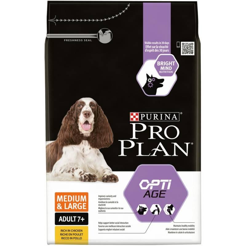 Pro Plan Medium & Large Adult 7+ - корм для собак средних и крупных пород старше 7 лет с курицей и рисом 3 кг (14 кг)