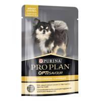 Влажный корм Purina Pro Plan Small & Mini Weight Control для взрослых собак миниатюрных и мелких пород для контроля веса c курицей в паучах - 100 г х 24 шт