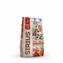 Sirius сухой корм для взрослых кошек мясной рацион 1,5 кг (10 кг)
