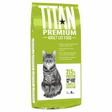 Titan Premium Cat Food сухой корм для взрослых кошек - 15 кг