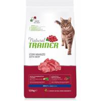 Сухой корм Natural Trainer Cat Adult для взрослых кошек с говядиной - 1,5 кг