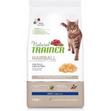 Сухой корм Trainer Natural Hairball для взрослых кошек для выведения шерсти из желудка с курицей - 1,5 кг