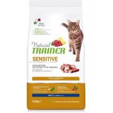 Сухой корм Trainer Natural Sensitive для взрослых кошек с чувствительным пищеварением и аллергией с уткой - 1,5 кг