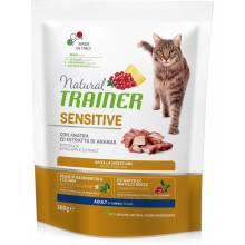 Сухой корм Trainer Natural Sensitive для взрослых кошек с чувствительным пищеварением и аллергией с уткой - 300 г
