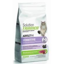 Сухой корм супер премиум класса Trainer Solution Sensitive With Duck для чувствительных и склонных к аллергии кошек с уткой - 300 г (1,5 кг)