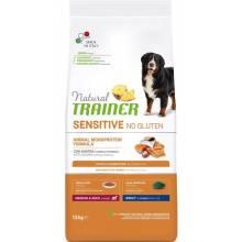 Trainer Natural Sensitive сухой корм для взрослых собак средних и крупных пород с чувствительным пищеварением без глютена c лососем - 12 кг