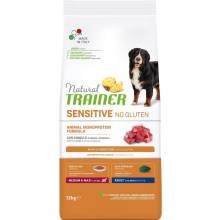 Trainer Natural Sensitive сухой корм для взрослых собак средних и крупных пород с чувствительным пищеварением без глютена c ягненком - 12 кг