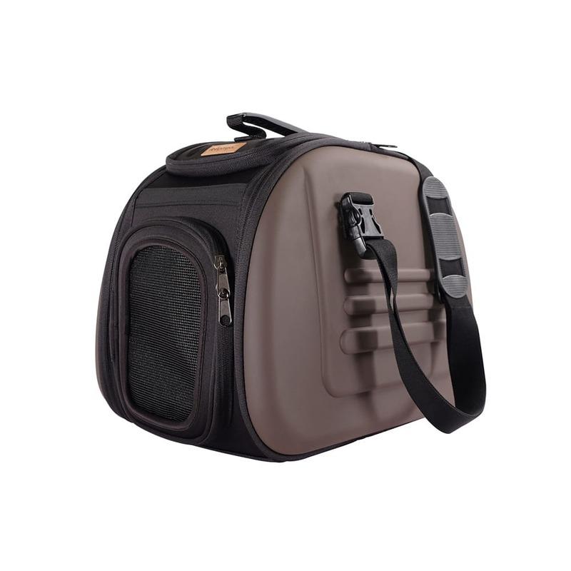 Ibiyaya складная сумка-переноска для кошек весом до 6 кг - коричневая
