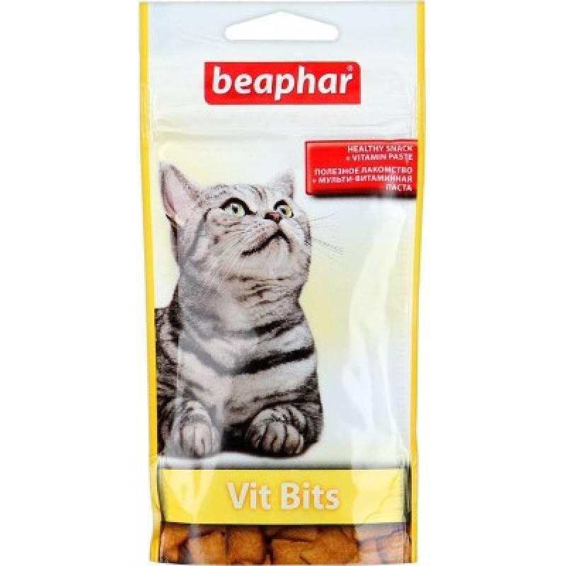 Beaphar Vit-Bits Подушечки для кошек с мультивитаминной пастой 35 г *75 шт