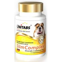 Unitabs SlimComplex с Q10 витамины для собак с избыточной массой тела 100 таб.