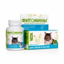 Veda Фитомины функциональный корм для кошек с фитокомплексом для зубов и костей- 50 г