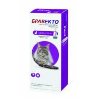 Intervet Бравекто капли от блох и клещей для кошек массой от 6,25 до 12,5 кг