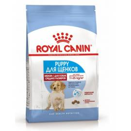 Royal Canin Medium Puppy  - корм для щенков средних пород от 2 до 12 месяцев 3 кг (14 кг)