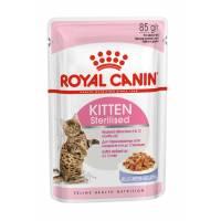 Royal Canin Kitten Sterilised влажный корм для котят кусочки в желе в паучах - 85 г х 12 шт (в желе)