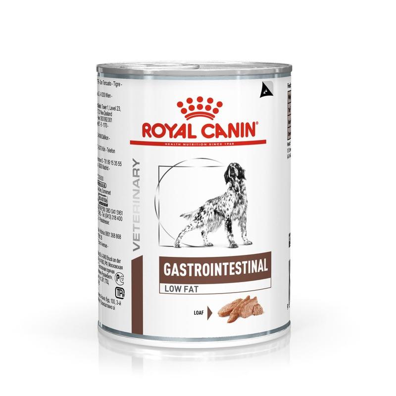 Royal Canin Gastro Intestinal Low Fat Canine консервированный диетический корм для взрослых собак всех пород при нарушении пищеварения - 410 г х 12 шт.