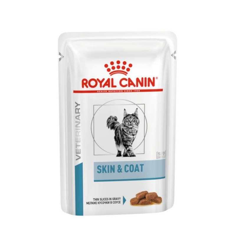 Royal Canin Skin & Coat влажный диетический корм для стерилизованных кошек с чувствительной кожей в паучах- 85 г х 12 шт.