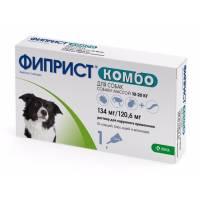 Фиприст Комбо (KRKA) для собак 10-20 кг от блох, вшей, клещей и власоедов