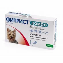 Фиприст Комбо (KRKA) для собак 2-10 кг от блох, вшей, клещей и власоедов